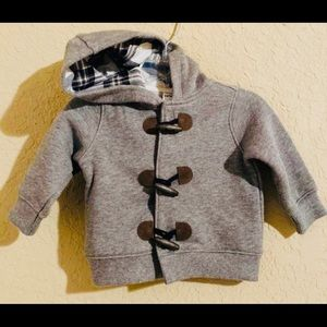 Carter's Grey Hoodie Jacket. Size 3 Months
